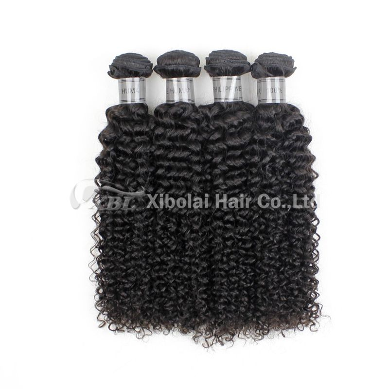 100% Full Cuticle Wholesale Philippine Curly Virgin Human Hair Extension