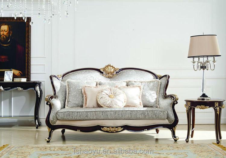 Supply Arabic Style Wooden Living Room Sofa Set Luxury