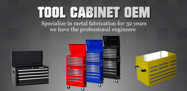 6 drawers 4 casters stable steel tool cabinet with locks