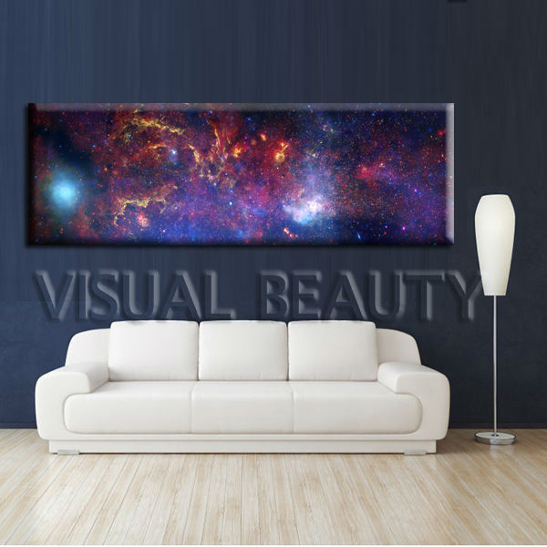 Wall Art Canvas Print Picture Lightning at Night Purple Sky