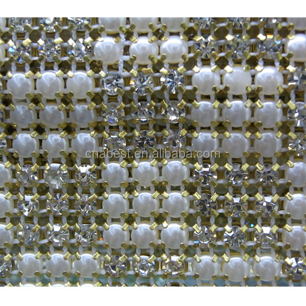 5mm crystal rhinestone mesh for dress in Guang Zhou