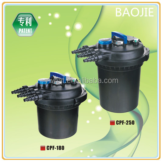 The newest design koi pond filter pond bio press filter for Decorative pond filters