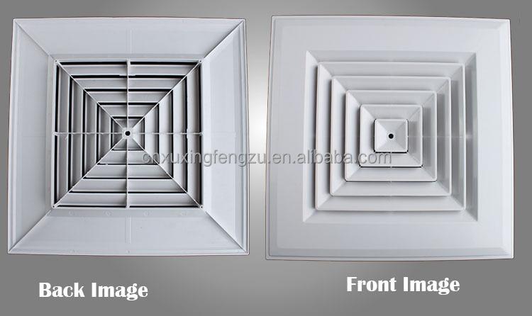 Hvac Ceiling 4 Way Air Vent Register Plastic Ac Vents