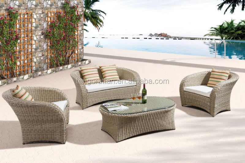 PE rattan antique ,new model designs 2014 garden sofa set