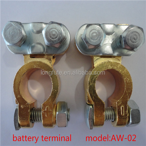 Brass Coted truck/ bus/ car Battery Terminal types, 12V battery terminal, brass terminal clips automotive battery terminals