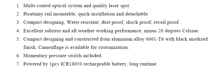 Subzero long distance 5mw green laser sight and air gun hunting 500mw ir laser illuminator combo