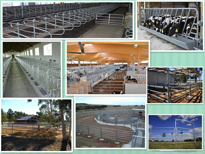 Hot dipped galvanized livestock yard panels