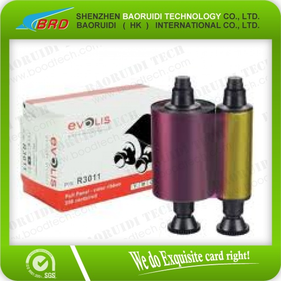 original Evolis YMCKO color ribbon R3011