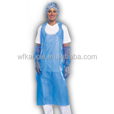 AAAAA grade transparent PE Apron/PE Aprons for kitchen/washing/cooking