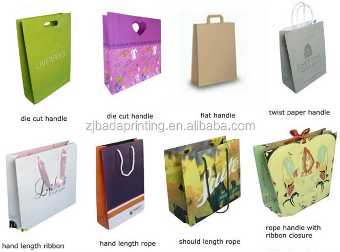 Hot sale classic design lovely animal printing Christmas paper gift bag wholesale