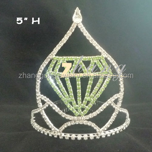 Wholesale diamond design large tiara