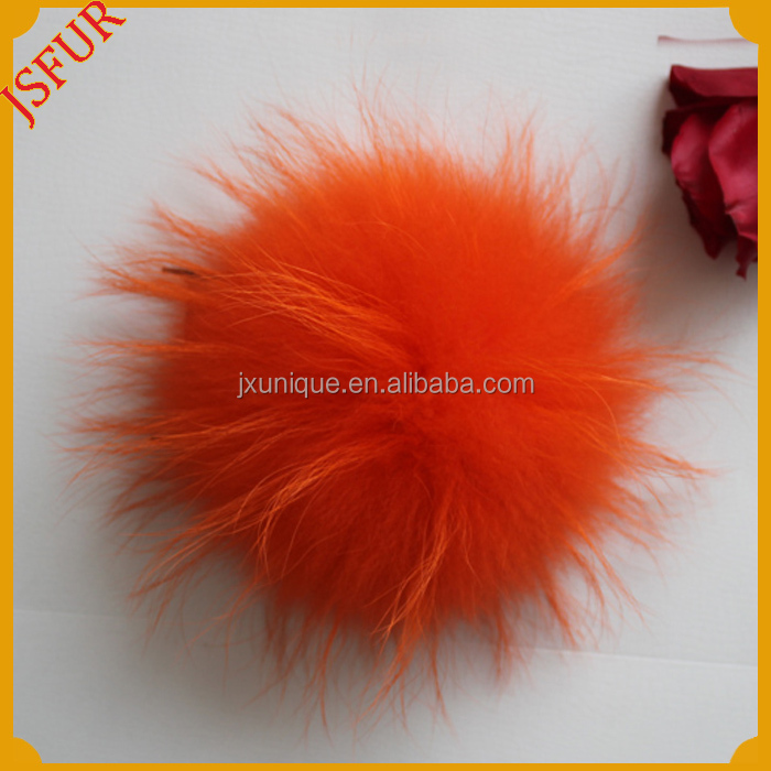 New Cute Wholesale Hat Accessory Fluffy Raccoon Fur Pom Poms