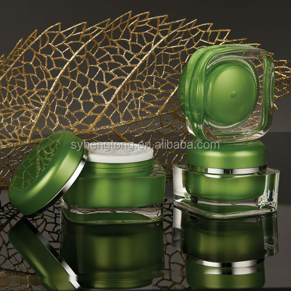 glass face cream jars with gasket