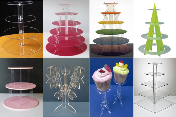 Star -shaped transparent acrylic cupcake display stand with cupcake stand for sale