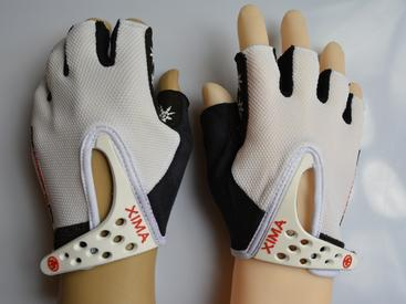 black&white fingerless sports mitten glove in safety gloves