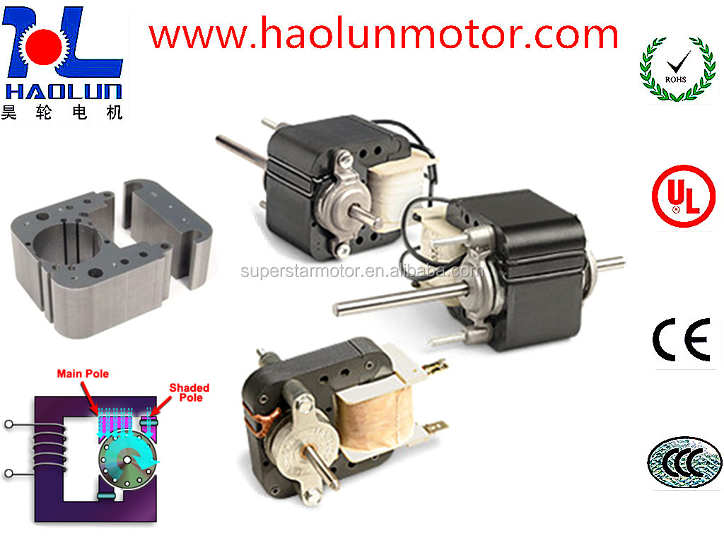 Ac sheded pole motor refrigerator fan motor hydraulic for Cappa annua