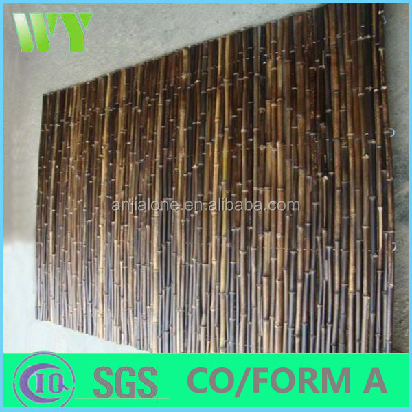 with high quality eco-friendly black bamboo fences