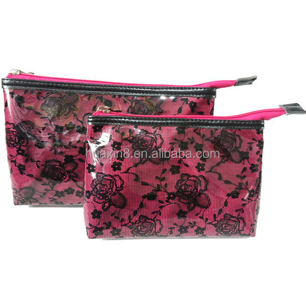 HD103959 Lace Printed Beauty Cosmetic Bag in HANGZHOU factory