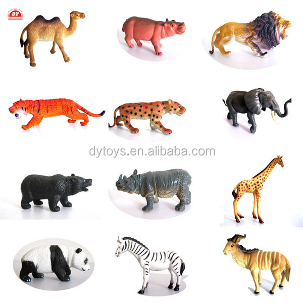 ICTI certificated custom made plastic wild animal figures set