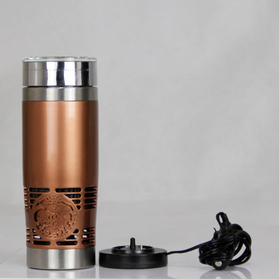304 Stainless steel high quality low price double wall cooling car mug/ Newest electric cooling pot