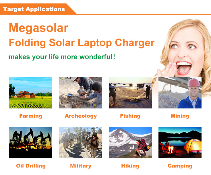 High Capacity Multifunctional Laptop Solar Charger