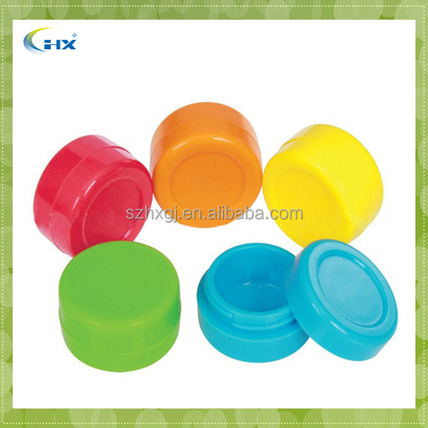 Silicone Concentrate Jar with Insert Bowl,Non-stick Silicone Food Container