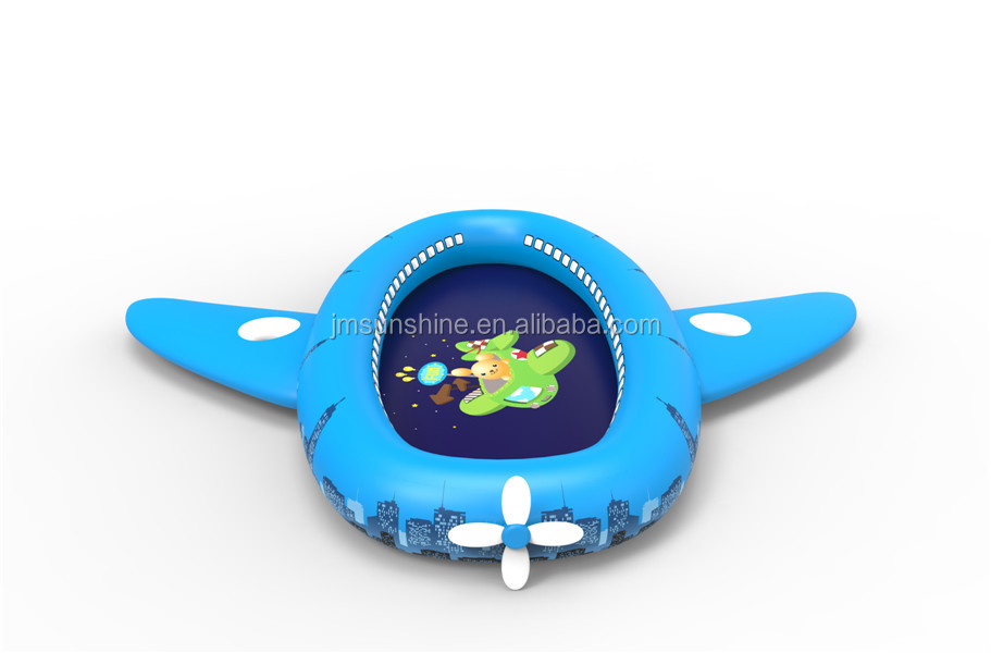 kid blue air plane inflatable pool for water fun
