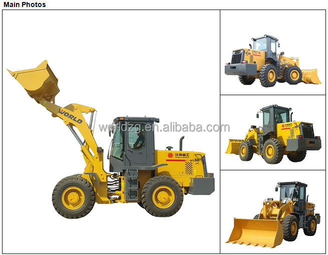 3T 1.8m3 Bucket Mini Chinese Wheel Loader Price for Sale