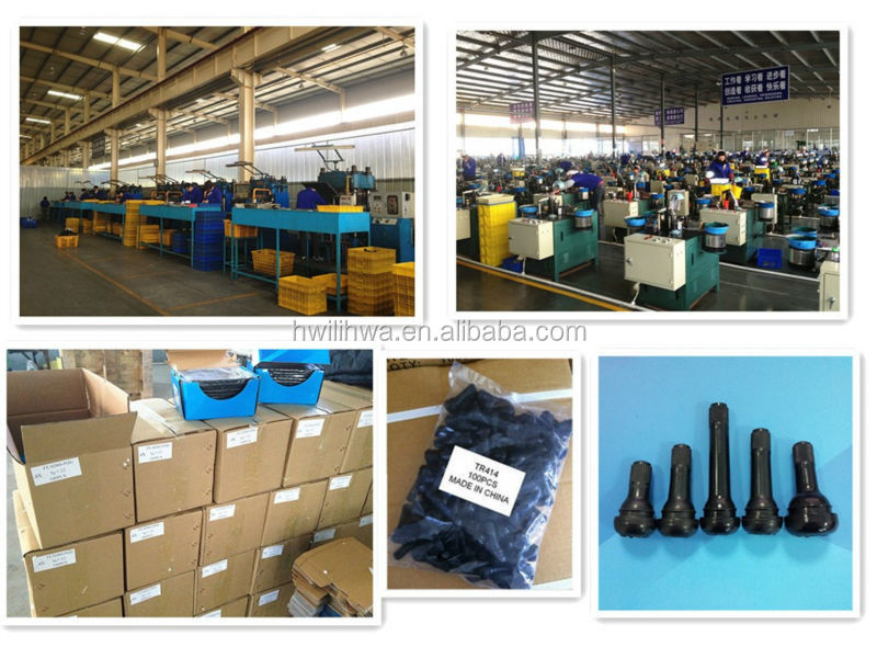 Metal clamp-in tubeless tire valves for truck and bus