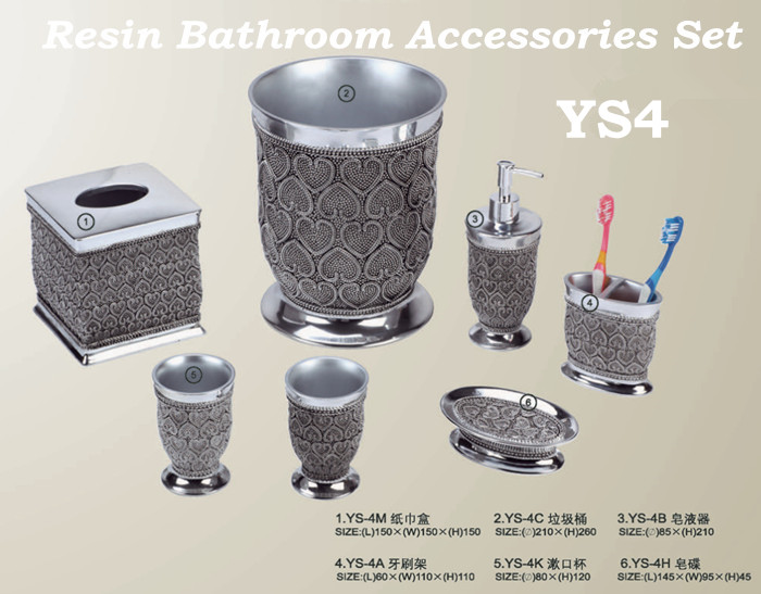Guangzhou Bhl Hotel Articles Roman Holiday Style Resin Bathroom Accessories Sets Bathroom Decor Sets Resin Bathroom