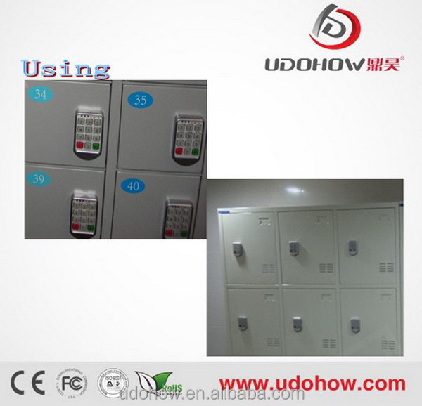 UDOHOW digital electric keypad cabinet lock/password gym locker lock
