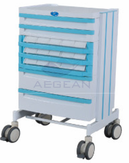 AG-WNT001 ABS material medical luxurious nursing trolley with four columns