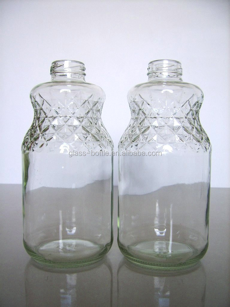 16OZ glass beverage bottle