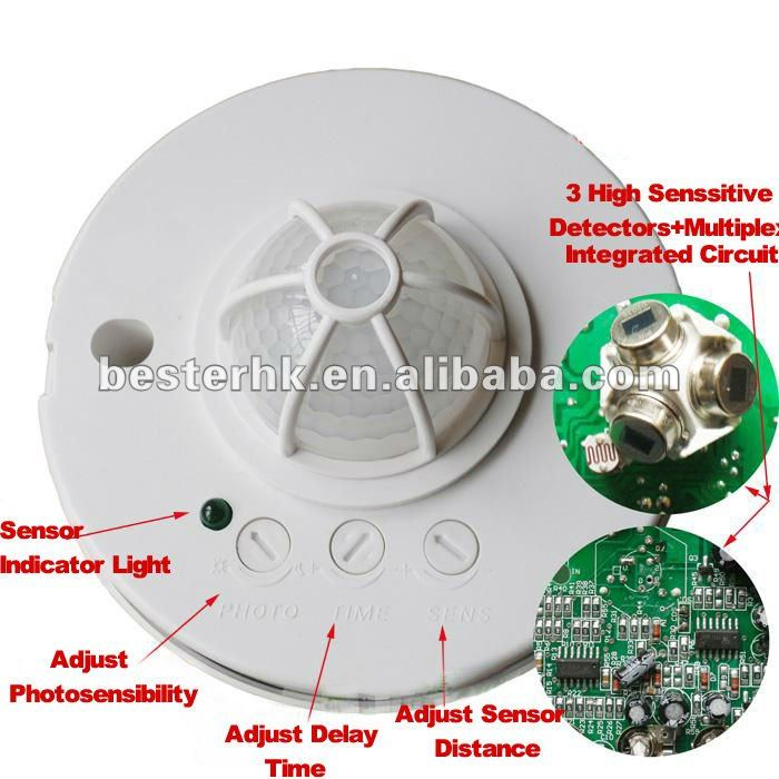Human Body Induction Switch Small PIR Motion Sensor With Timer delay