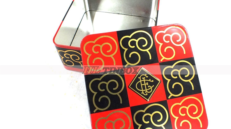 High End Gift Square Metal Cake Tin Can