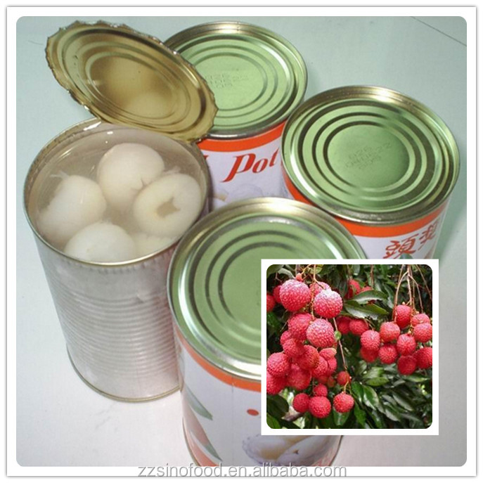 New Crop Canned Food Canned Lychees in Light Syrup