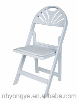 White Resin Folding Chairs for wedding reception