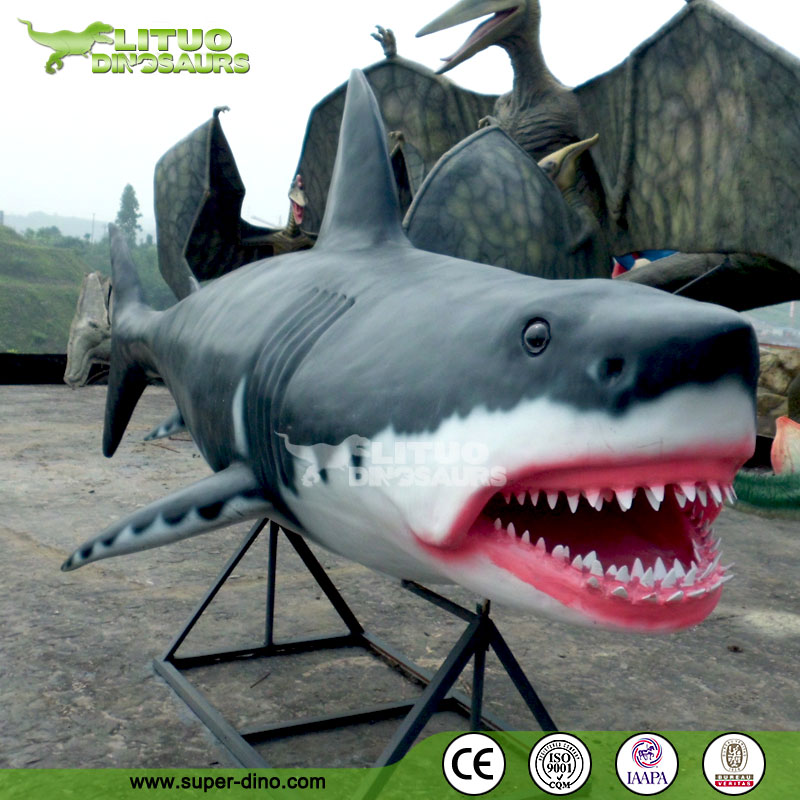 Theme park life size shark statue buy shark statue life for Life size shark plush