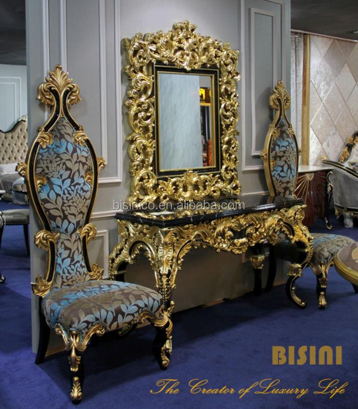 Bisini Baroque Collection Luxury Antique Console View