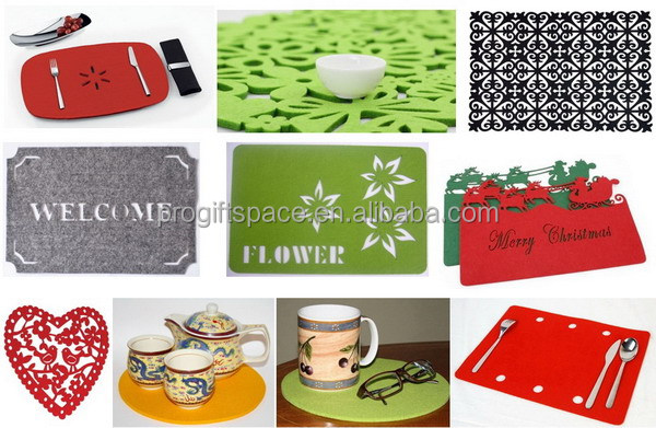hot new products for 2017 alibaba china best selling eco-friendly cheap felt place mat for decoration table