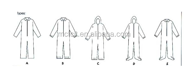 disposable coverall/coverall/workwear coverall