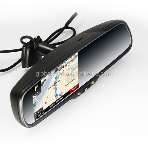 Rear View Mirror Gps With 4 3inch High Brightness Monitor