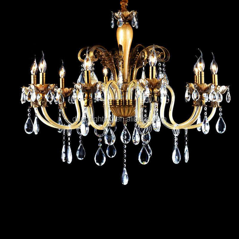 2017 Fashion hot sale luxury clear murano glass chandelier