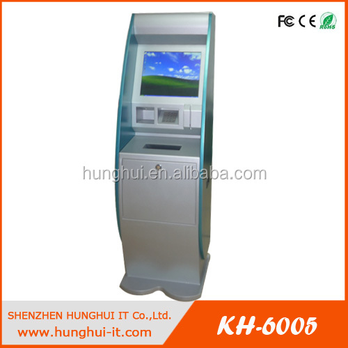 Touch Screen Self Service Information Kiosk with A4 Printer for Hospital and Clinic