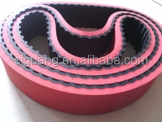 Red rubber coating timing belt for packaging machine