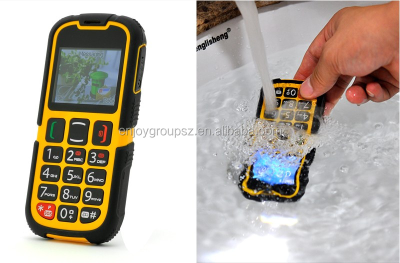 2.0inch big button senior phone dual sim quad band waterproof rugged sos