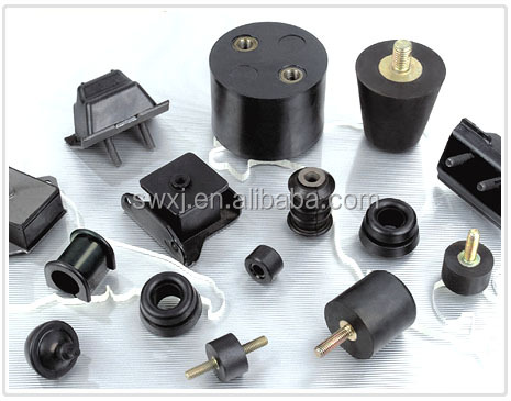 Threaded rubber mount