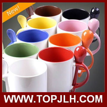 2015 New Novelty Black Ceramic Chalk Drawing Mug For Promotional Gifts