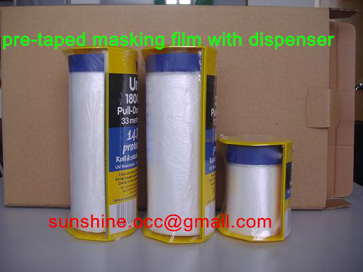 masking film with adhesive tape