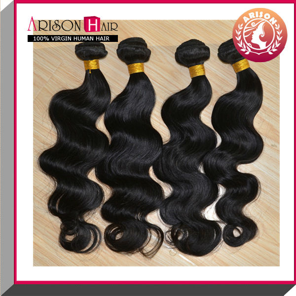 Unprocessed wholesale body wave peruvian hair